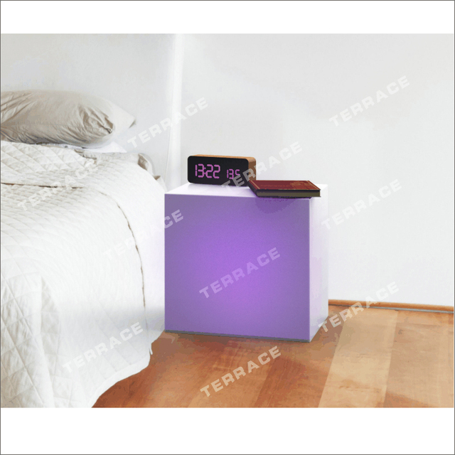 frosted lucite led cube table,foggy acrylic lighting nightstand-in Cube Nightstand