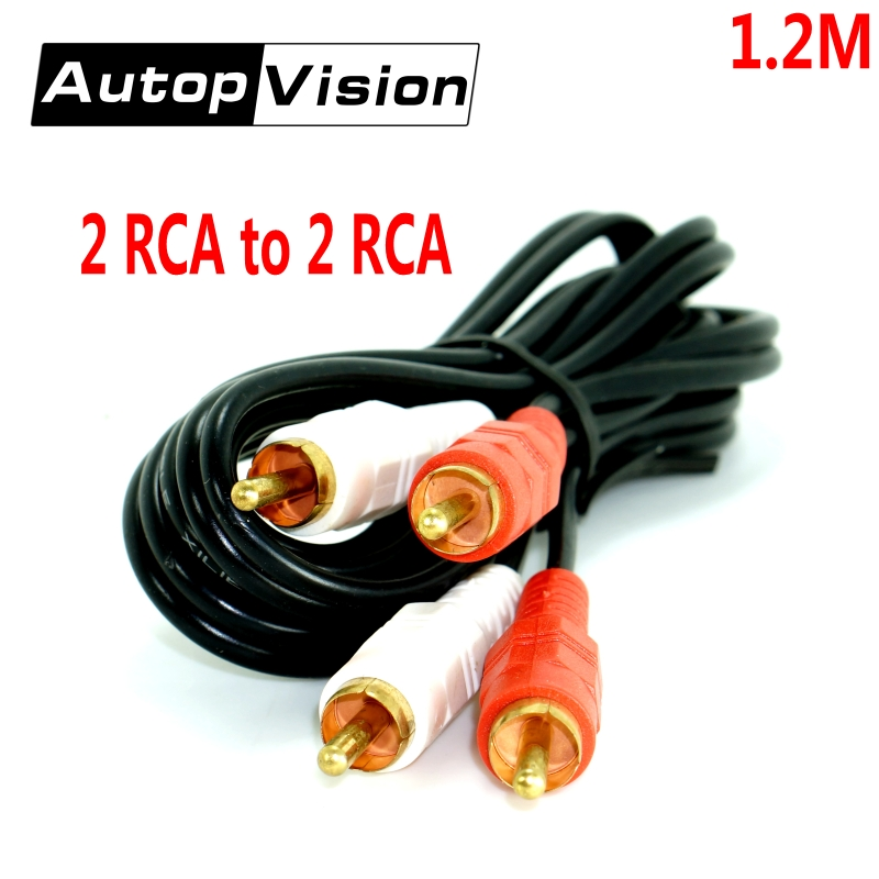 10pcs 1.2m AV Cable 2 RCA to 2 RCA Male to Male Audio Video Extension Cable for Computer TV DVD Speaker Video Recorder 1 8m 4 5cm 7 6cm rca male to single rca female single phono audio composite extension cable for dvd players tvs fw1s