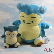 two pcs lot 15 30CM Kabigon Snorlax bear plush toy doll
