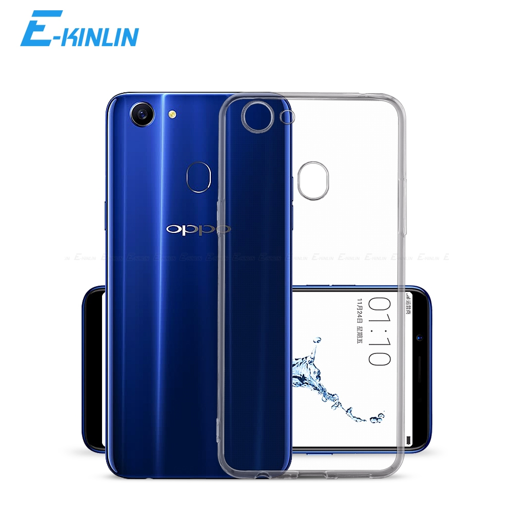 Clear Crystal Soft Silicone Back Full Cover For <font><b>Oppo</b></font> F11 <font><b>F9</b></font> Pro F3 F5 F7 F1s F1 Plus Lite Youth Neo 7 9 UltraThin TPU Phone <font><b>Case</b></font> image