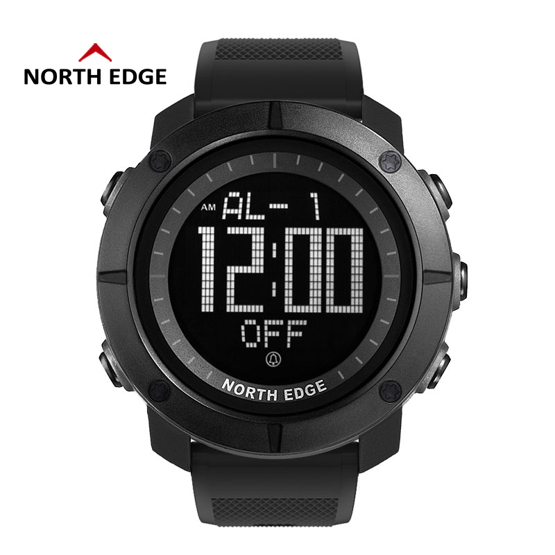 Digital Watch North Edge Military Watches Waterproof Alarm World Time Clock Nylon Watch Band Relogio Digital Watches Mens Sports