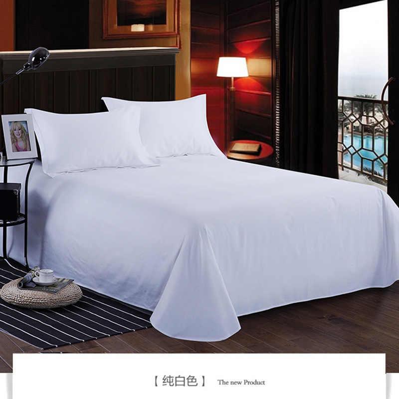 1 шт 100% хлопок бежевый цвет плоский лист для детей взрослых Одиночная двойная саржа кровать плоские простыни XF632-8