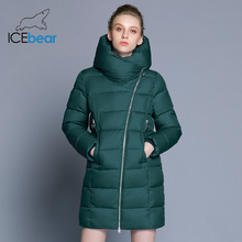 ICEbear 2018 new fashion long hooded coat winter woman coats thickening windproof warm clothes women jacket GWD17657D