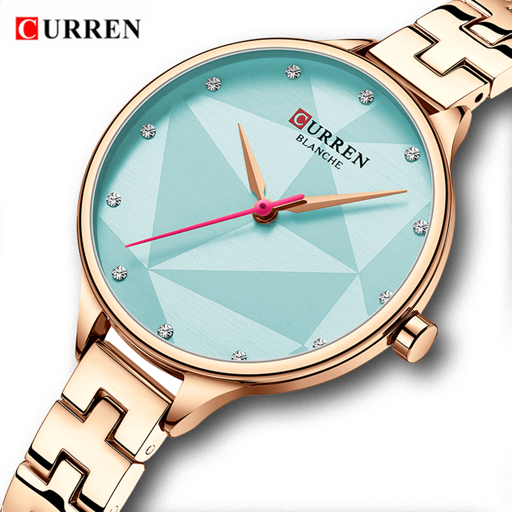 CURREN Fashion Rose Gold Bracelet Watches Women Top Luxury Brand Ladies Quartz Watch Stainless Steel Wristwatch Relogio Feminino Fashion Casual Women Watches