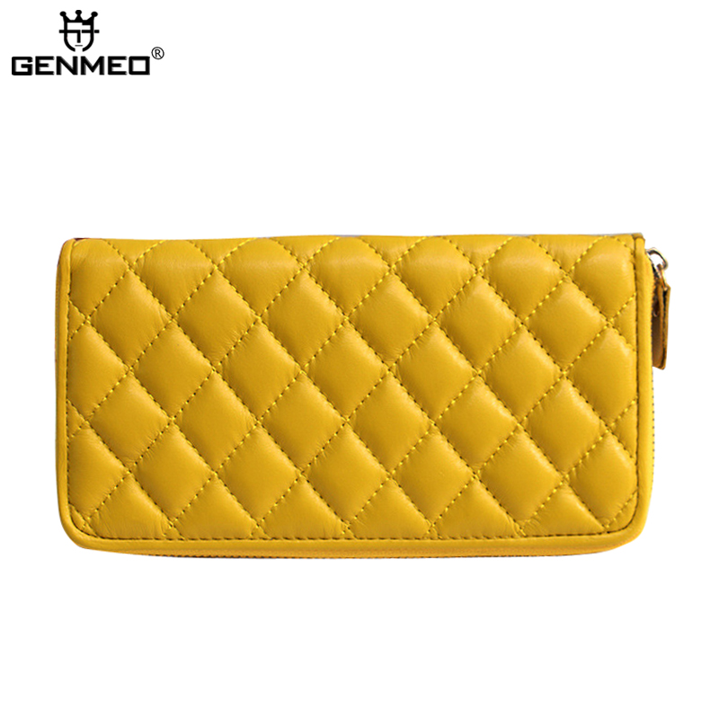 MAIFEINI New Arrival Genuine Leather Wallet Women Leather Wallets Fashion Clutch Money Bag Sexy Ladies Coin Purse цена и фото