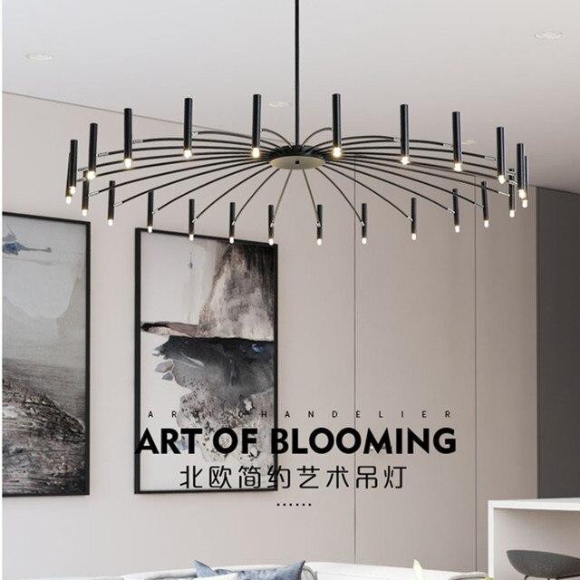 Nordic Designr Art Led Chandelier Creative Art Bedroom Restaurant Foyer Dining Room Deco Light Fixture Luminaire Free Shipping