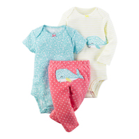 2017 Newborn Baby Clothes Set Blue Dog Kids Boy Girl Infant Clothing Boys Ropa Bebes Baby