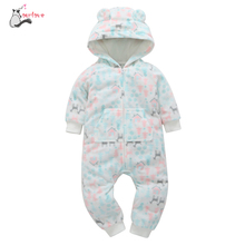 2188867138ee Autumn Winter Thicker romper Infant Baby Boy Girl Print Hooded warm Romper  Jumpsuit Outfit Home Clothes