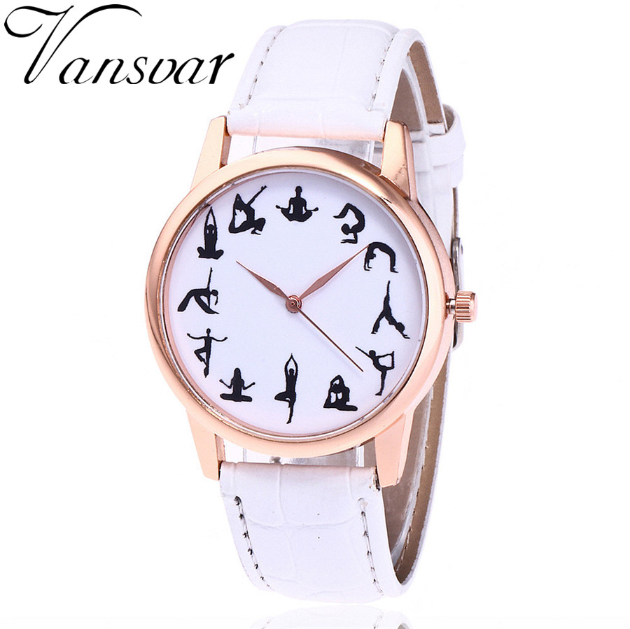 Vansvar Brand Fashion Yoga Watch Casual Women Wrist Watches Leather Quarzt Watches Relogio Feminino Drop Shipping vansvar fashion women leather watches casual new york subway map watch ladies quarzt watch relogio feminino v34
