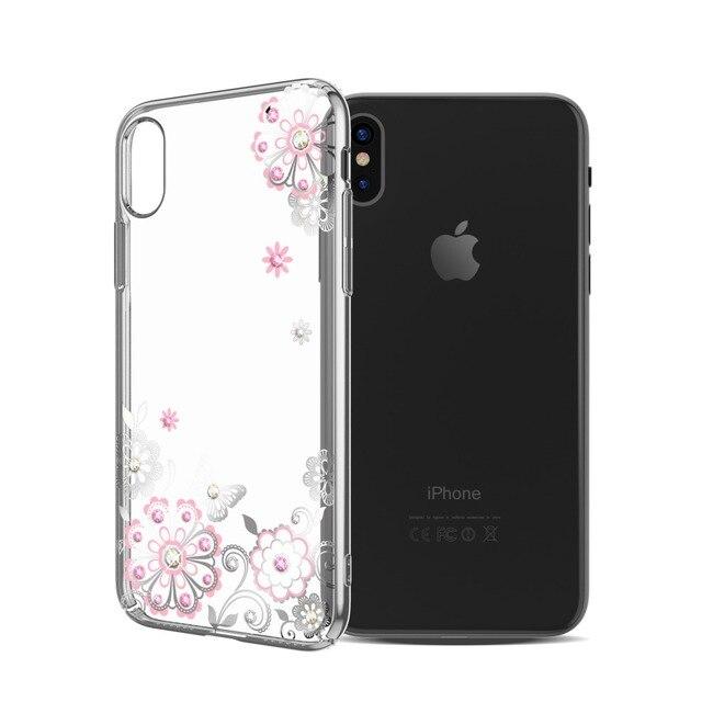 9cc928ce522a92 KINGXBAR for iPhone X 10 Case Swarovski Element Crystal Diamond Rhinestone  Case for iPhone X Cover