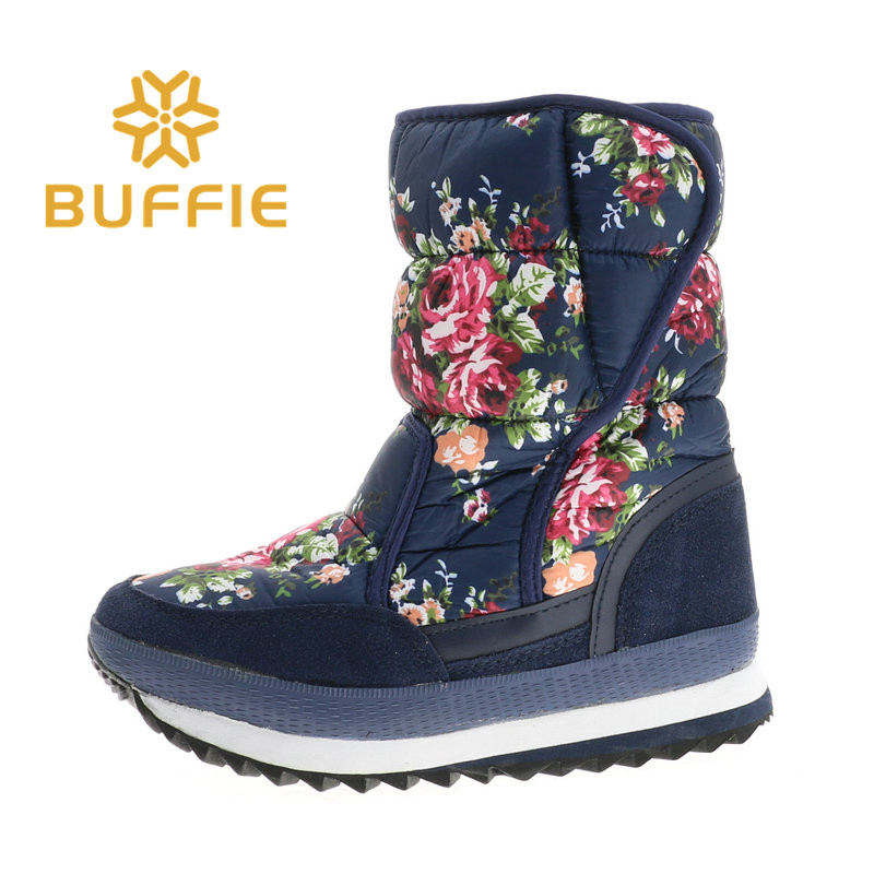 2018 winter hot boots women style snow boots flower boot EVA with Rubber outsole warm fur insole plus size fashion style midculf fashion style