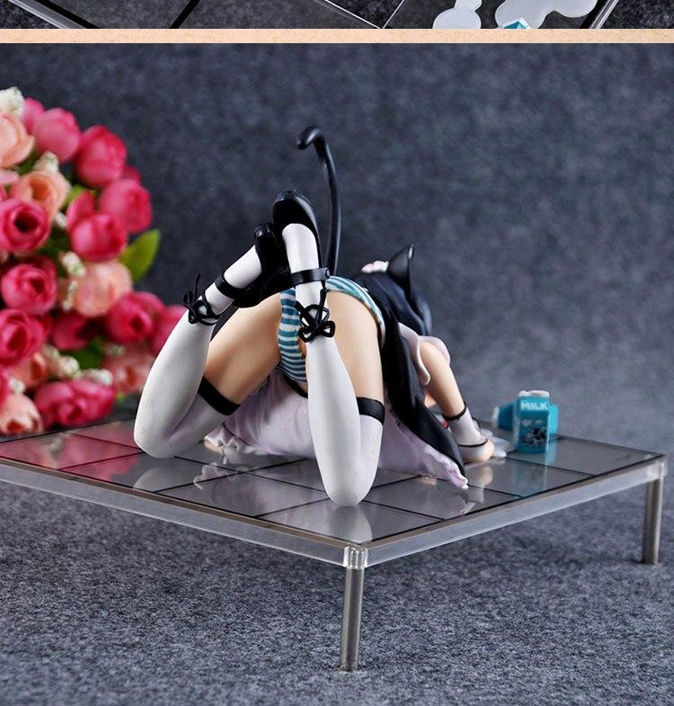 12cm Japanese Anime Cat Lap Milk sexy Girl Figure Misaki Kurehito Sakura Action Figure 1/7 Scale 2