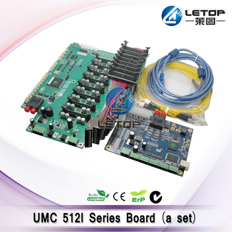 Large format printer printed circuit board umc board for konica minolta 512i print head digital printer zhongye 16h carriage board for seiko print head