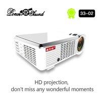 PonerSaund 3302 светодиодный проектор HD 1280x720 проектор для android устройств HDMI 3D домашний проектор фильмов с Wi Fi Bluetooth