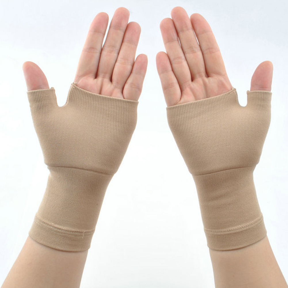 Compression-Sleeve Muscles-Gloves Wrist-Support Joint-Pain Arthritis 2PCS Sprains Chinlon