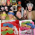 Смешные Очки Участника Сильнее Затвора Оттенки Очки Ретро Клуб Rave Party Хип Детей День Рождения автопортреты Инструмент