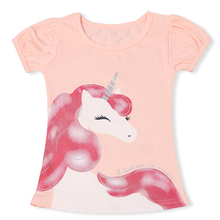 Unicorn Party Tops Summer T-shirts For Kids Girl