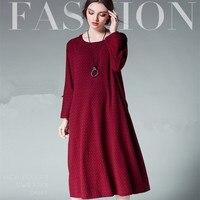 XL 4XL New Arrive Plus Size Female Quality Fashion Big Yards Long Dress Ramie Cotton Patternlong
