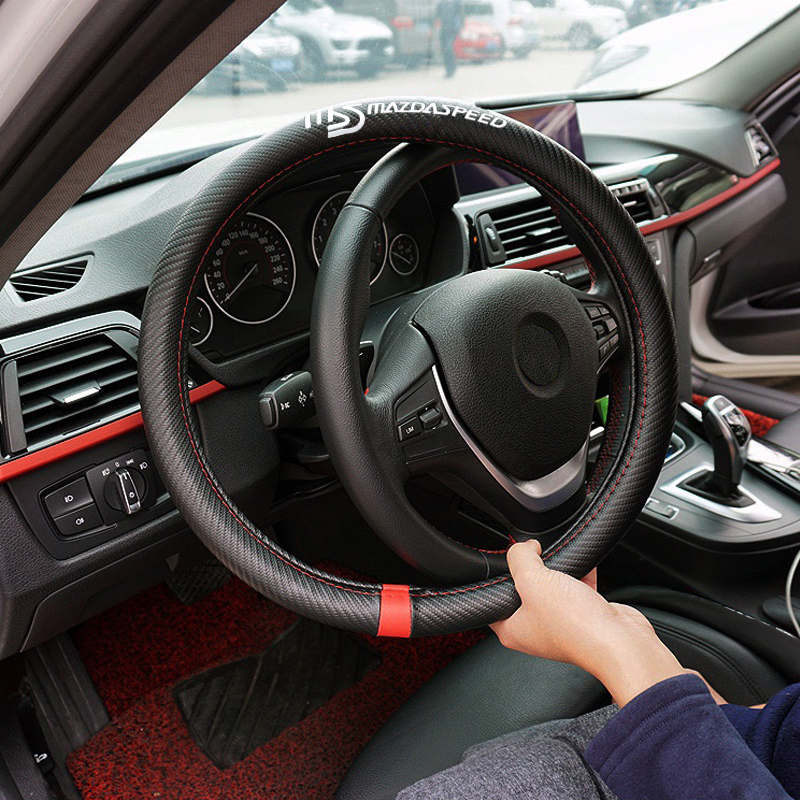 цена на Car Steering Wheel Cover For Mazda 3 6 5 Spoilers CX-5 CX 5 CX7 CX-7 2 323 CX3 CX5 626 M3 M5 MX5 RX8 Atenza