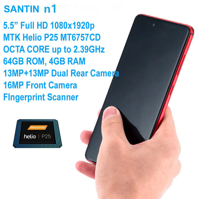 "SANTIN Phone n1 16MP 5.5"" Full HD Octa Core 4GB RAM 64GB ROM OTG 4G Mobiles Phone LTE Phone 4G Android phone Pro 7 S60 Mix 2"
