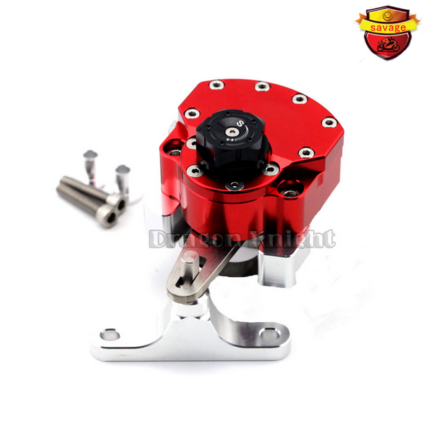Cbr400r Motocycle Accessories for Honda CBR500R CBR 400R 500R / 2013 - 2015 Stabilizer Steering Damper mounting bracket red motocycle accessories for honda cbr400r cbr500r cbr 400r 500r 2013 2015 stabilizer steering damper with mount bracket black