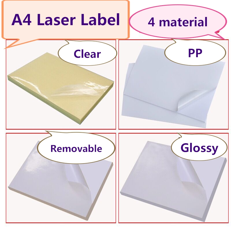 graphic relating to Printable Label Sheets named US $17.86 5% OFFRemovable Adhesive Sticker, Watertight A4 Label Sheets for Laser printer, 60computers, Out of doors clearly show Print label-inside Stationery Stickers