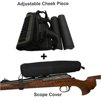 2015 Newest Tourbon Hunting Gun Accessories Adjustable Shooting Rifle Cheek Rest Neoprene Scope Cover Holds 10