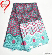 KK African high quality tulle lace fabrics for party dress