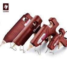 LIJIAN High Quality Professional Hot Melt Glue Gun Adjustable Temperature A Mini Wireless Battery Copper Nozzle 7mm 11mm Sticks