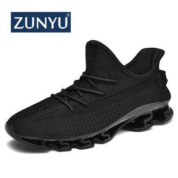 ZUNYU 2019 New Summer Men Sneakers Fashion Spring Outdoor Shoes Men Casual Men'S Shoes Comfortable Mesh Shoes For Men Size 39-47