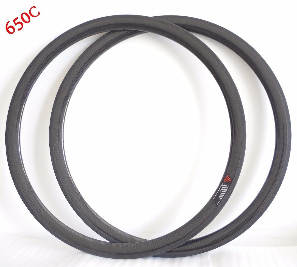 650C 38mm x 20 5mm SUPER LIGHT Carbon Road Clincher Bike Wheel Rims BSD 571 Tubeless
