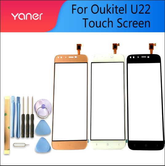 5.5 Inch Tested Well 100% For Oukitel U22 Touch Touch Screen Touch Panel Sensor Black/White/Gold Colors Phone Repair +Free Tools