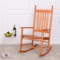 Wooden Balcony Deck Garden Porch Armchair Rocking Chair HW56354