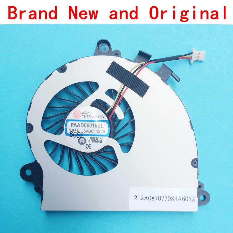 Новый ноутбук Процессор Вентилятор охлаждения GPU радиатор Тетрадь ПК для MSI AAVID PAAD06015SL N197 0.55a 5vdc N184 N229 N346 N269 3-контактный 3-жильный