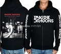 Imagine Dragons Indie Rock  Alternative Rock punk band men's black 100% cotton hoodie