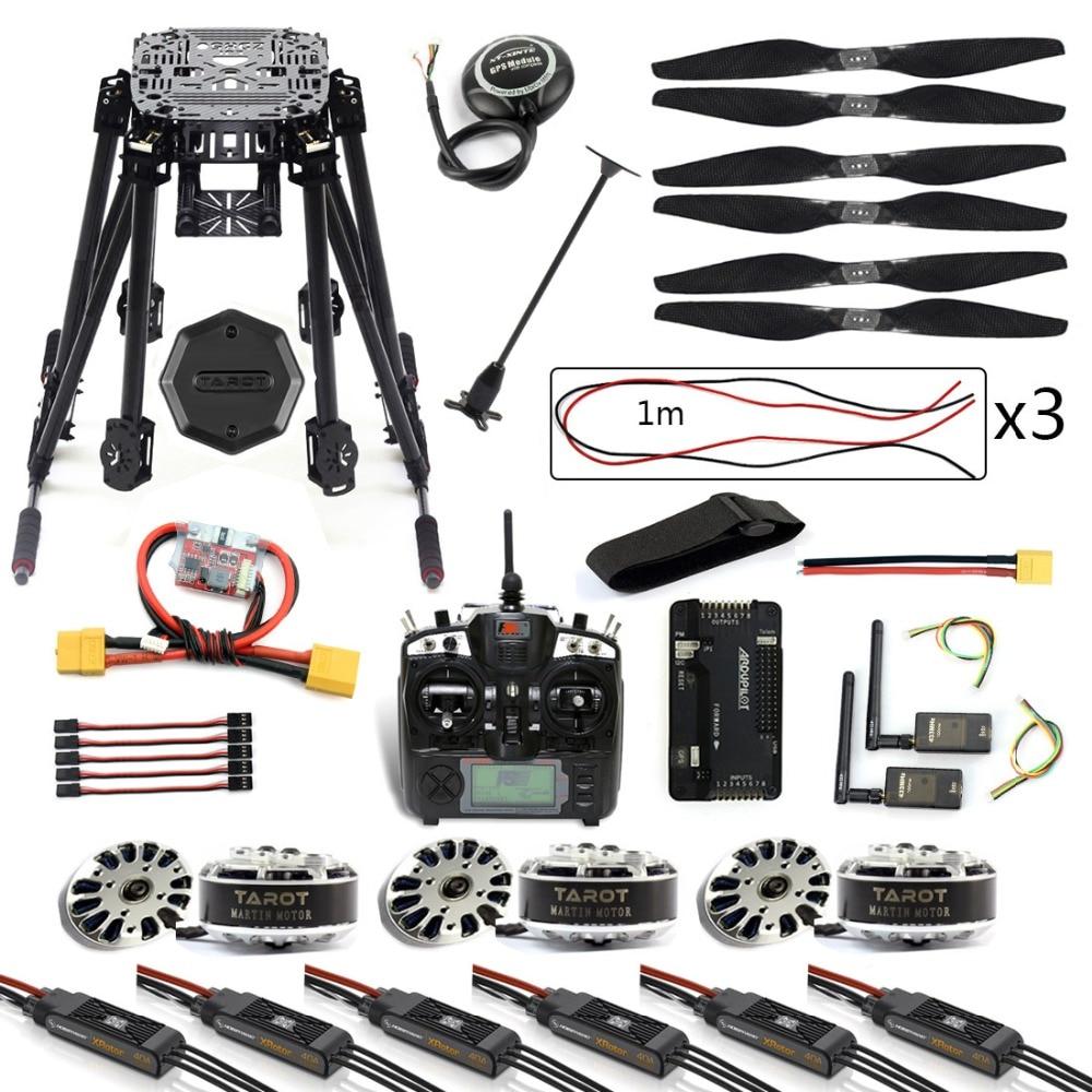 JMT DIY 6-Axe ZD850 Cadre Kit APM 2.8 Contrôleur de Vol M8N GPS 3DR Télémétrie Flysky TH9X TX moteur ESC RC Hexacopter