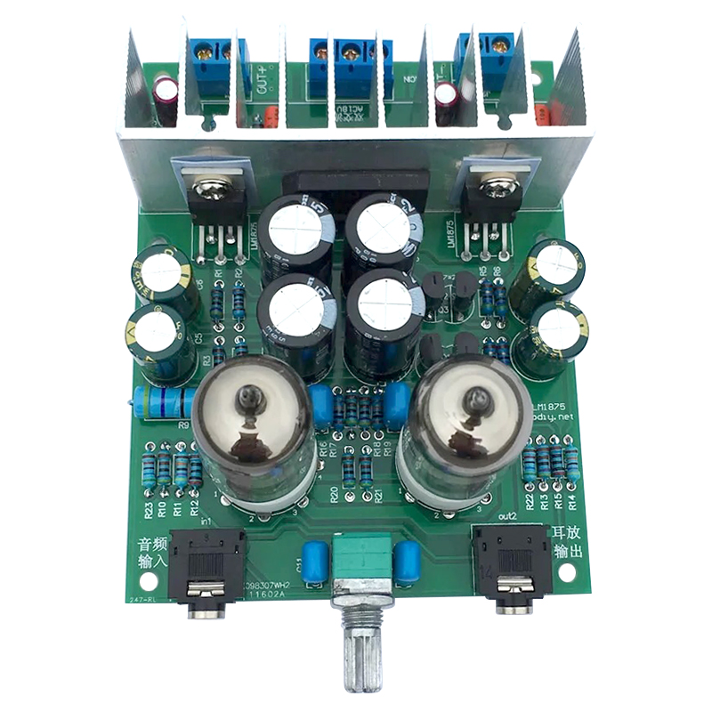 Aiyima Hifi 6j1 tube amplifier audio board LM1875T Headphones amplifiers For DIY kits Pre-amp audiophile