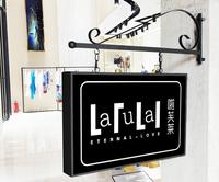 European style iron art Advertising box customized oblong LED acrylic lamp box Poster Frame