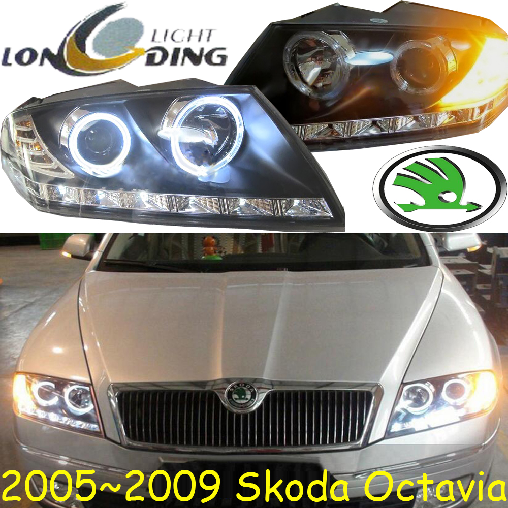 car-styling!Octavia headlight,2005~2008,Free ship!chrome,Octavia fog light,chrome,LED,Fabia,octavia,superb,rapid,yeti universal car seat cover for skoda octavia rs fabia superb rapid yeti spaceback greenline joyste jeti car accessories