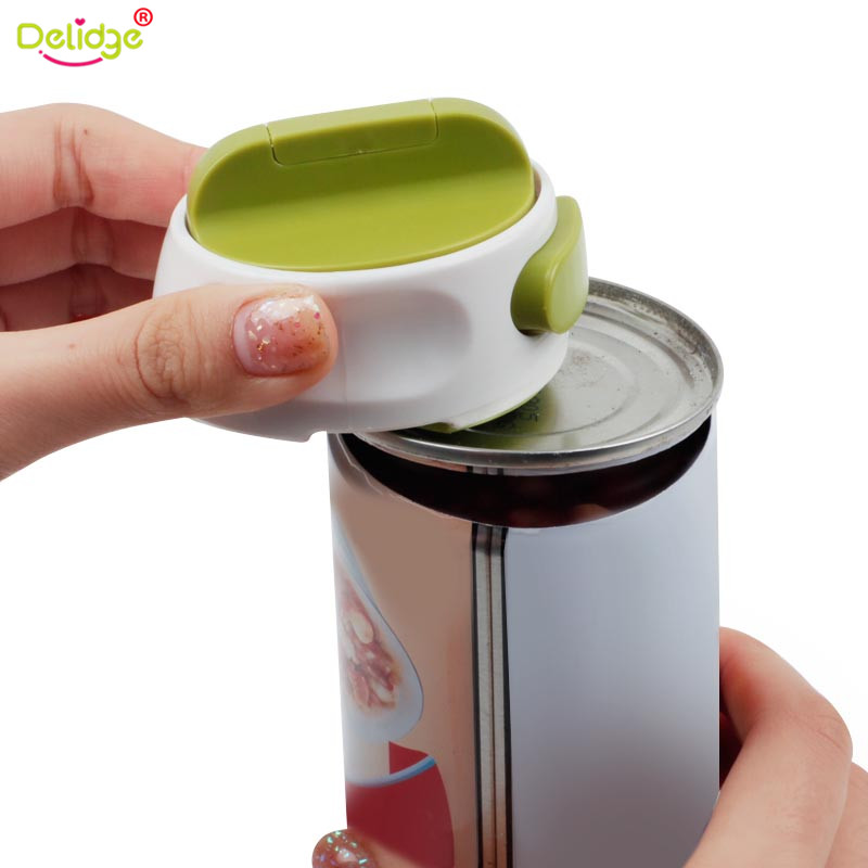 Delidge 1 PC Round Can Opener Stainless Steel Easy Manual Rotation Canned Fruit Luncheon Meat Non-slip Openers Kitchen Tools