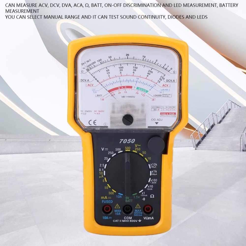 KT7050 аналоговый мультиметр Многофункциональный Омметр цифровой