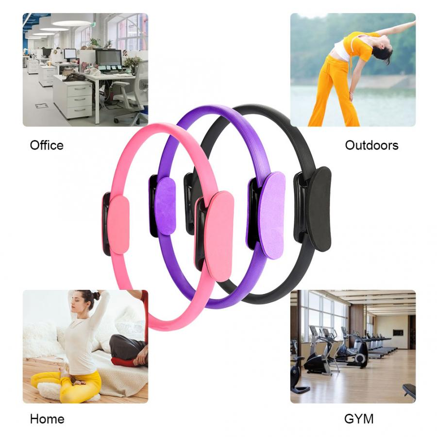 Facial Kit Double Handle Grip Pilates Yoga Resistance Ring Gymnastic Aerobic Magical Circle For Fitness