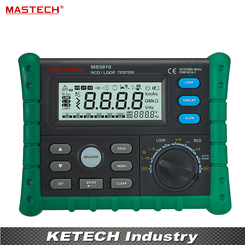 Ms5910 автоматический выключатель УЗО Loop метр тестер Trip время и ток Напряжение частоты петли измерение сопротивления USB