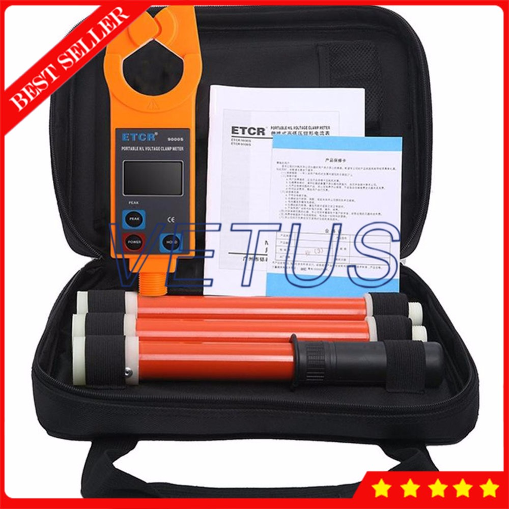 ETCR9000S высокая/низкая Напряжение ток нагрузки измерения с AC Ток утечки клещи 99 компл. Регистратор данных