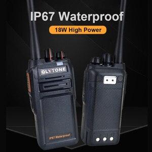 Image 3 - Wasserdicht Walkie Talkie 18 W High Power Professionelle Portable Radio Station LYT 980 400 520 MHz Transceiver