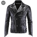 Leather Jacket Men Turn-down Collar Jaqueta De Couro Masculina PU Mens Leather Jackets Skull Punk Veste Cuir Homme plus size 5XL