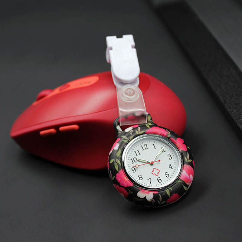 Nurses Doctor Quartz Fob Watch Silicone Case Band Pocket Watch TT@88