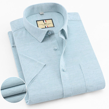 Bamboo fiber Solid color Casual Shirts Brand Mens Dress Shirt Summer shirts Fashion Plaid man