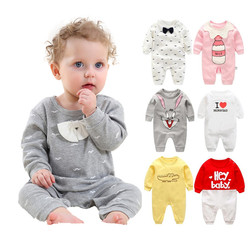 2019 frühling-Herbst baby jungen kleidung Baumwolle mit Langen Ärmeln baby jungen kleidung, cartoon Bart Gentleman baby strampler Infantil babys