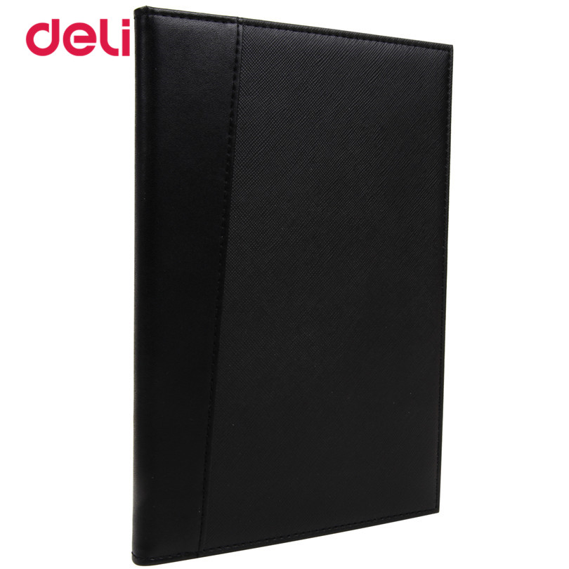 Deli Office 25k 80 sheets Business Notebook for school stationary 2017 new notebooks black scheduler a diary conference notebook deli гастроном 3179 brown jazz series классический ретро кожа блокнот 25k 130 ye случайных цветов